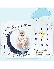 Baby Monthly Milestone Blanket for Girl or Boy,40x60inch Baby Photo Background Blanket,European Design,Gender Neutral for Newborn Girl & Boy