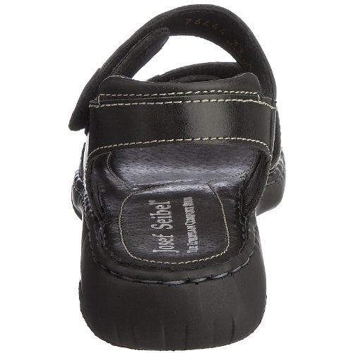 Donna black Debra Seibel Nero Con Col A Tacco Scarpe Cinturino T Josef zBRxPnB