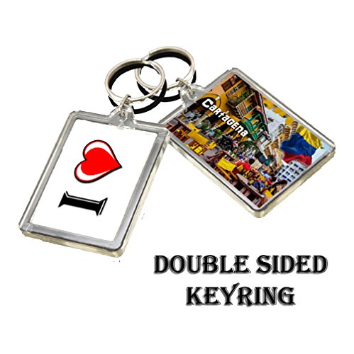 C267 Cartagena Keyring I Heart Colombia Travel Keychain