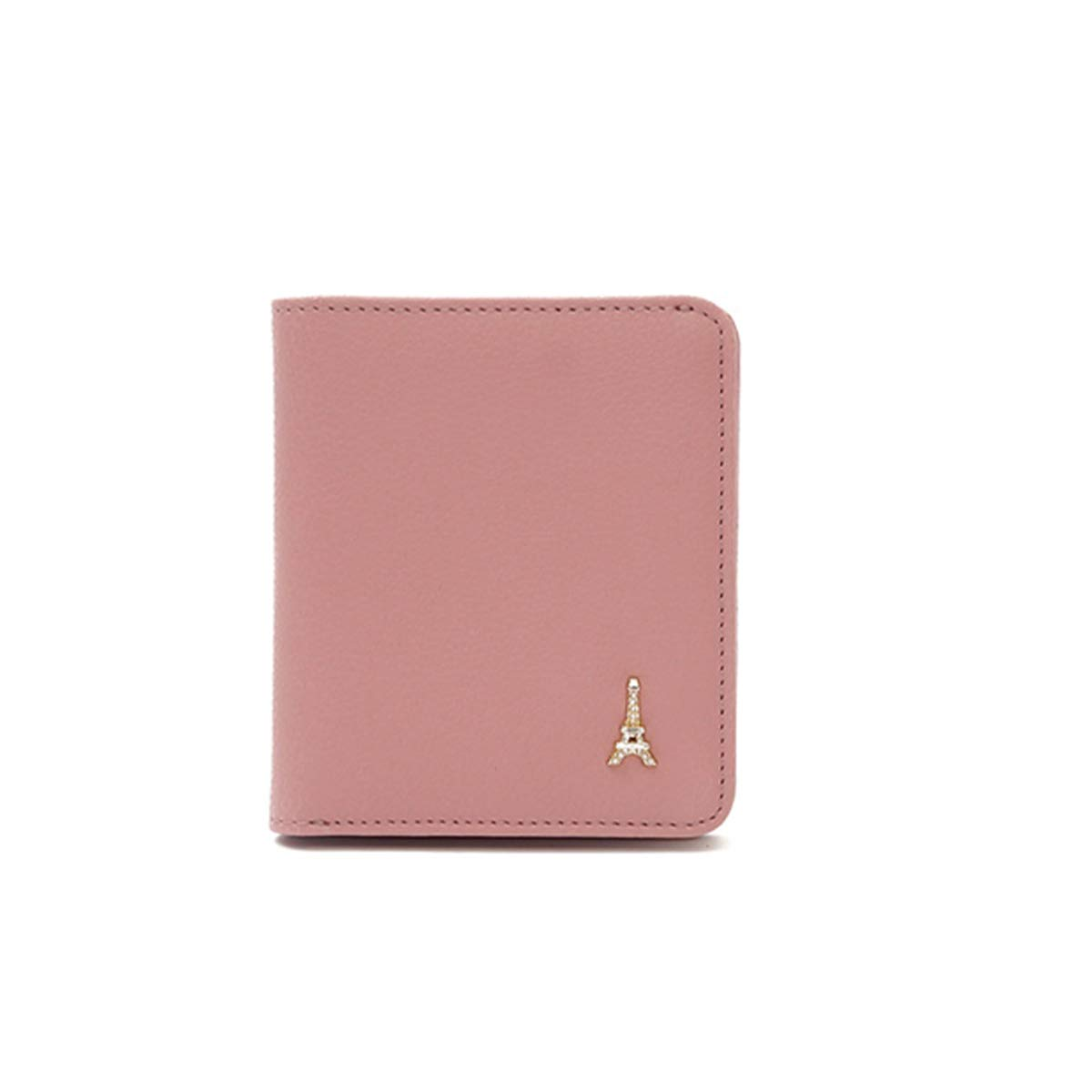 Xingganglengyin Card Package Female Small Cute Simple New Short Female Wallet Ultra-Thin Korean Student Small Wallet Color : Red