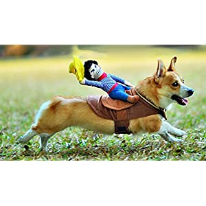 Crazystone's Pet COWBOY Funny Costume Apparel with 1 Hat (Medium)