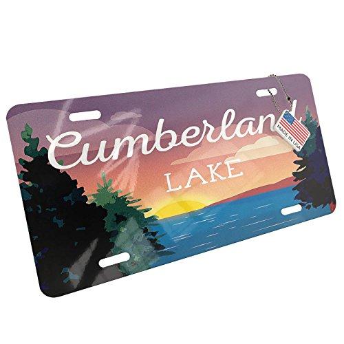 Metal License Plate Lake retro design Lake Cumberland - - Cumberland Ga Atlanta