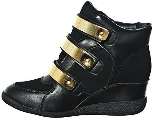 Fashion Hi Wedge up Women's Lace shoewhatever Top Blknub14 Sneakers Pl 0Rxw7qEnCv