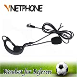 Vnetphone Soccer Football Referee Intercom Microphone Headset Earphone and Coach Referee Headphones for V6/V4/FBIM Referee Intercom