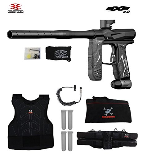 (MAddog Empire Axe 2.0 Sergeant Paintball Gun Package - Dust Black)