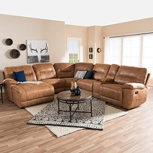 Baxton Studio Mistral Modern and Contemporary Sectional