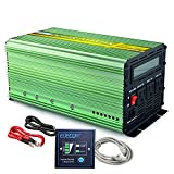 EDECOA Power Inverter 1000 Watt Pure Sine Wave DC 12V to 110V AC with LCD Display and Remote Controller for Car