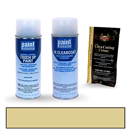 PAINTSCRATCH Gold Mist Metallic 51/WA316N/WA216N for 2008 Buick Lucerne - Touch Up Paint Spray Can Kit - Original Factory OEM Automotive Paint - Color Match Guaranteed