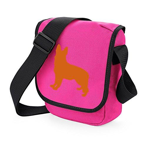 Orange Dog Gift German Pink Silhouette Alsation Shoulder Bag German Choice Dog Colours Bag of Shepherd Bag Bag GSD Shepherd Reporter Bag wqAnTqUP