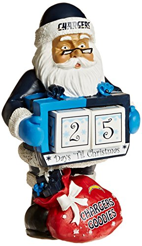 (Los Angeles Chargers Santa Countdown Calendar)