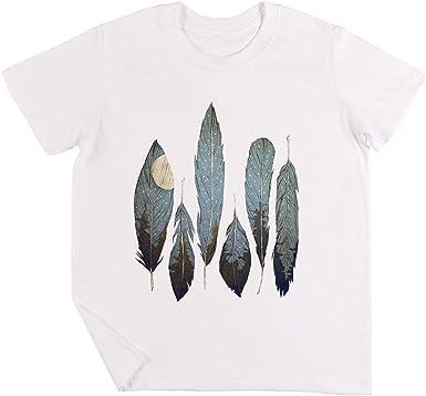 Bosque Aves Niños Chicos Chicas Unisexo Camiseta Blanco: Amazon.es: Ropa y accesorios