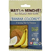 Matt's Munchies The Premium Fruit Snack Banana Coconut 1 Oz. Pk Of 3.
