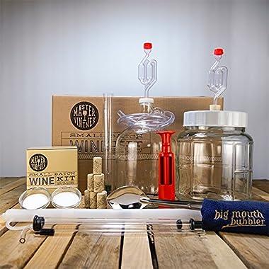 Master Vintner Small Batch Wine Making Equipment Starter Kit with 1 Gallon Merlot Recipe Kit