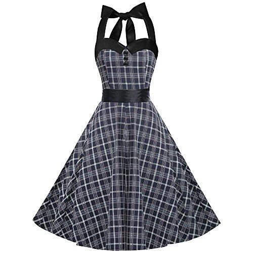 50s dresses halter neck - 7