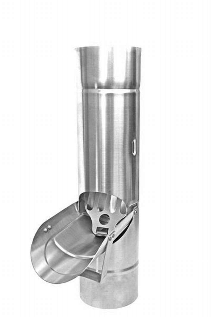 Regenrohrklappe mit Sieb Titanzink in den Größen 76, 80, 87 und 100 mm (87 mm)