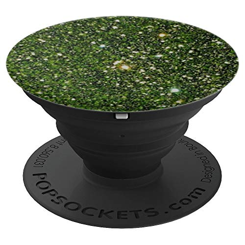 Green Olive Emerald Shimmer Gift Print - PopSockets Grip and Stand for Phones and - Emerald Shimmer