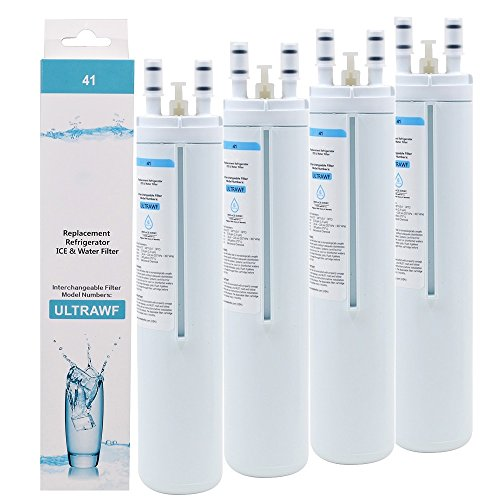 4 Count Frigidaire Water Filter - ULTRAWF Compatible Cartridge For Frigidaire Refrigerators & Ice Makers - Compatible with Puresource, Gallery, Professional Series Fridge and Some Electrolux Models
