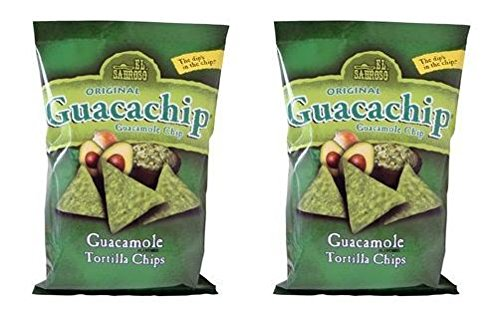 El Sabroso Guacachip, Guacamole Flavored Tortilla Chips, 12-Ounce Package (Pack of 2)