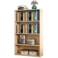 Haobase 4 Tiers Wood Bookshelf Shelves Display Storage Wooden Shelves Unit