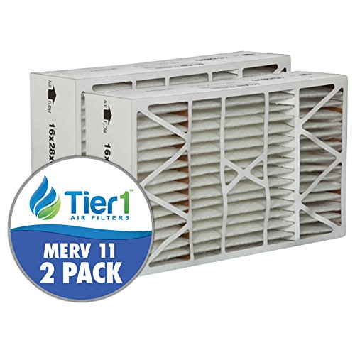 White-Rodgers FR1400-401 16x28x6 -MERV 11 Comparable Air Filter -2PK