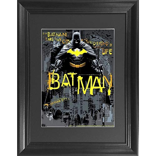 Batman & Gotham 3D Poster Wall Art Decor Framed Print | 14.5x18.5 | Lenticular Posters & Pictures | Memorabilia Gifts for Guys & Girls Bedroom | DC Comic Book Classic Hero Movie Fan Picture & Artwork