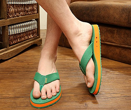 Bininbox Heren Zomer Ademend Slippers Strand Slippers 5 Kleuren Groen