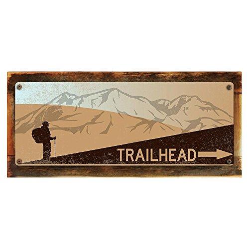 Framed Trailhead Metal Sign,6