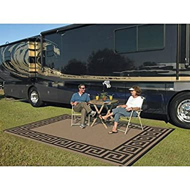 RV Patio Mats Outdoor Patio RV Mat Reversible Deck 9 x 12 Rug Weather Enduring Picnic Carpet