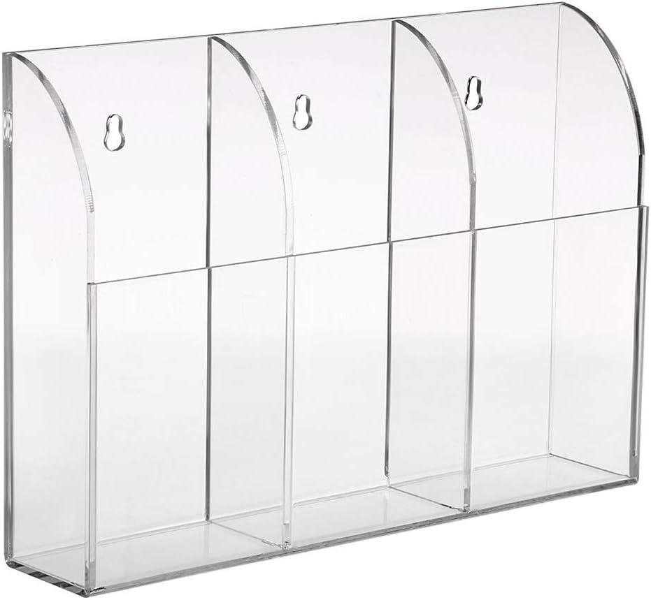 Trasparente Acrilico Storage Box per l Aria condizionata Portatelecomando Telecomando TV Portatelecomando da Parete in Acrilico Trasparente Contenitore