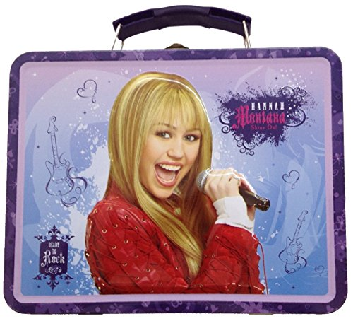 Hannah Montana Lunch Box (Hannah Montana Square Tin Stationery Small Lunchbox Lunch Box - Purple)