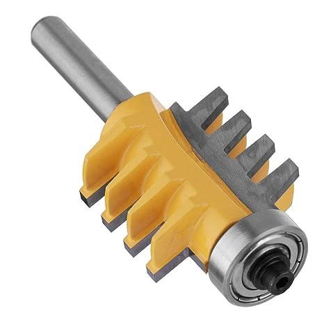 FTVOGUE Brocas de Fresadora de Carburo Cementado 8mm V/ástago de Carpinter/ía Rejilla de La Espiga Broca de 8 Carriles Cortador de Dedos