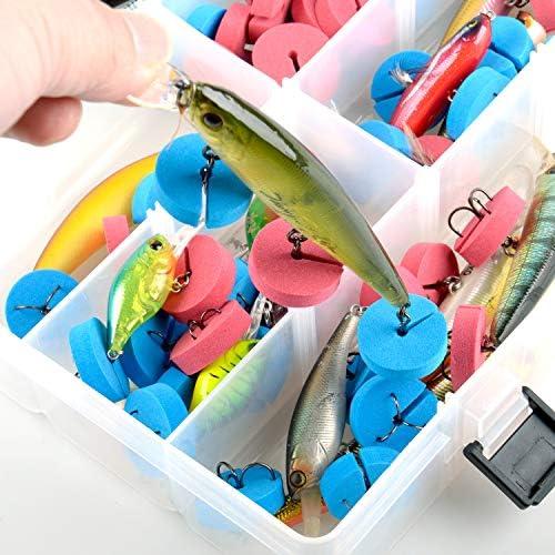 50pcs  Durable Fishing Treble Hooks Covers Case Bonnets Capstector Set