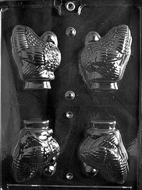 Cybrtrayd T020 Medium Hollow Turkey Life of the Party Chocolate Candy Mold with Exclusive Cybrtrayd Copyrighted Chocolate Molding (Turkey Candy Mold)