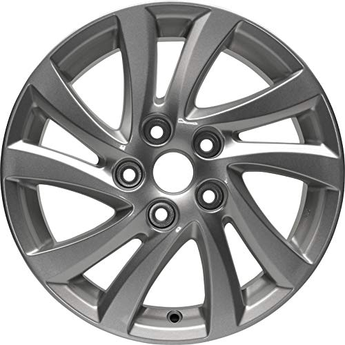Partsynergy Replacement For New Replica Aluminum Alloy Wheel Rim 16 Inch Fits 2012-2013 Mazda 3 10 Spokes 5 Lug 114.3mm