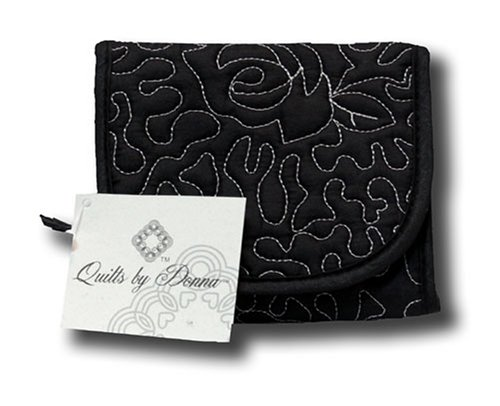 Donna Sharp Quilted Black Pearl Small Wallet 32779, Bags Central