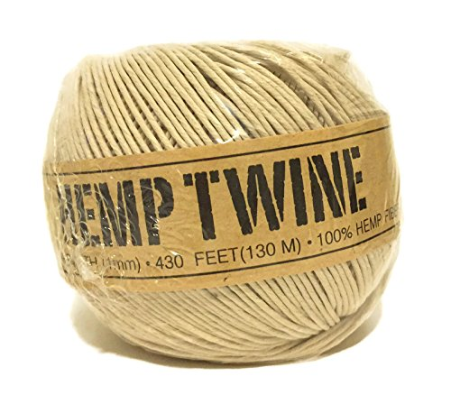Hemp Twine Natural 20# 1mm 430ft 130m (Mm 1 Hemp)
