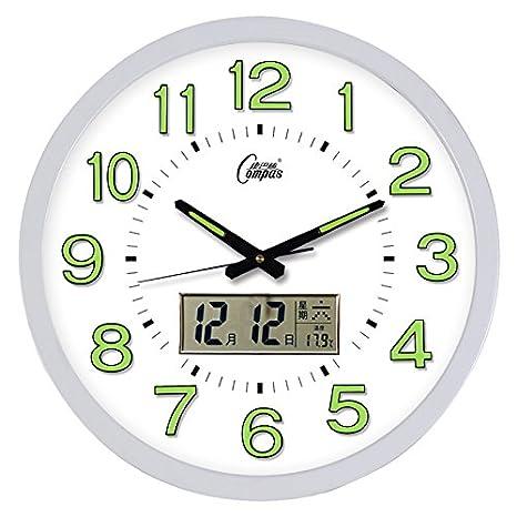 Cgghy 16 Inch Wall Clock 40 5 Cm In Diameter Lcd Luminous Clocks Clocks