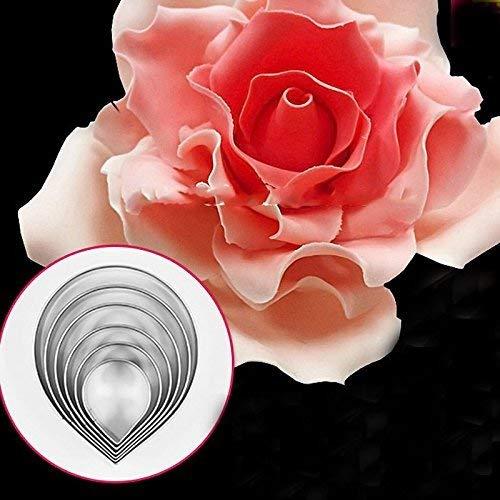 Romote cotowin Rose set di stampi in acciaio inox Pasta di zucchero della Pasta di zucchero del Taglierina stampi decorazione della torta