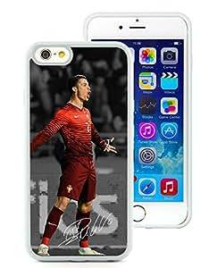 Soccer Player Cristiano Ronaldo 27 White Individual Custom iPhone 6 4.7 Inch TPU Case