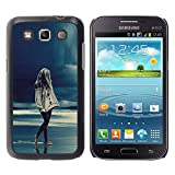 LASTONE PHONE CASE / Slim Protector Hard Shell Cover Case for Samsung Galaxy Win I8550 I8552 Grand Quattro / Girl Rain Blue Ocean Legs Night