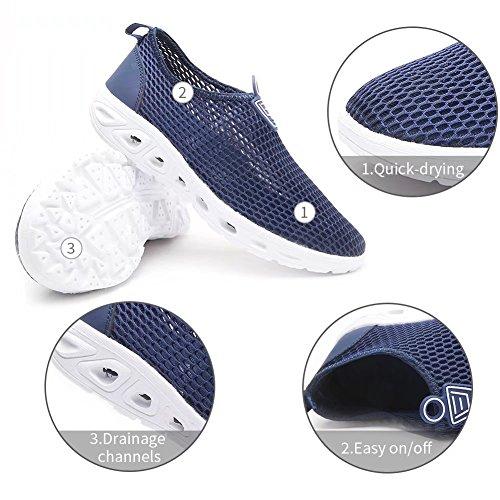 HOBIBEAR Männer Frauen Quick Dry Water Schuhe Leichte Slip-On Aqua Turnschuhe Für Walking Bootfahren Blau