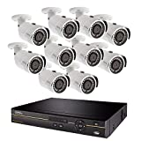 Q-See Surveillance System QC9616-10DX-2, 16-Channel HD Analog DVR with 2TB Hard Drive, 10-4MP Security Cameras