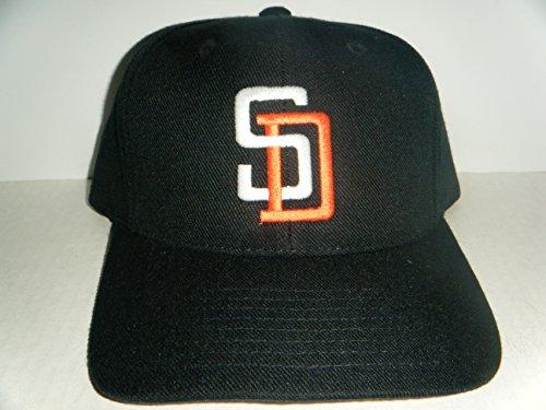 3ecfdb95de3 San Diego Padres Vintage Snapback Hat Black Cap - Buy Online in Oman ...