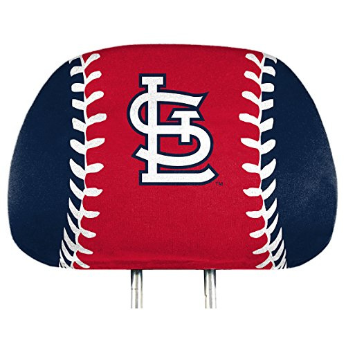 (ProMark St Louis Cardinals Printed Color 2-Pack Head Rest Covers Elastic Auto Baseball)