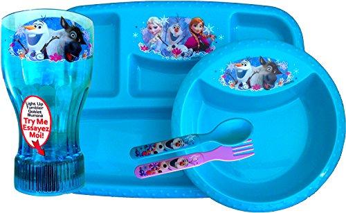 51HFWyJuPdL.jpg  sc 1 st  Desertcart & Disney Frozen 5 Piece Dinnerware/lunch Set Inlcudes 1 Disney Frozen ...