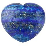 rockcloud Healing Crystal Lapis Lazuli Heart Love Carved Palm Worry Stone Chakra Reiki Balancing