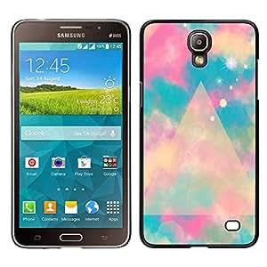Azul Polígono Nubes Espacio Místico - Metal de aluminio y de plástico duro Caja del teléfono - Negro - Samsung Galaxy Mega 2