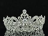 Big Austrian Crystal Cubic Zirconia Bridal Wedding Tiara Crown Hair Jewelry SHA8648