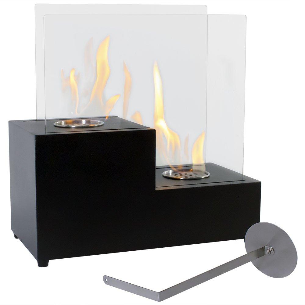 Sunnydaze Ventless Passo Style Tabletop Fireplace, Indoor, Bio-Ethanol Fueled Sunnydaze Decor