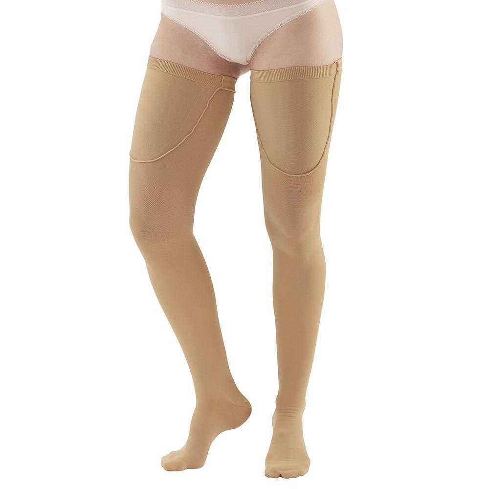 Ames Walker Unisex AW Style 220 Anti-Embolism Closed Toe Compression Thigh High